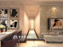 地面拼花客厅吊顶简欧客厅过道吊顶简欧风格过道装修效果图