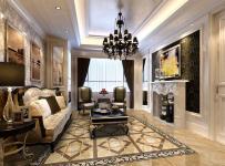 简欧风格客厅地面拼花装修效果图简欧风格茶几图片