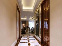 台灯灯具吊顶灯具123㎡三居简欧风格过道地面拼花装修效果图简欧风格壁灯图片