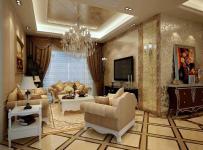简欧风格客厅地面拼花装修效果图简欧风格边几图片
