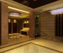 簡歐風格酒店衛生間地面拼花裝修圖片簡歐風格面盆圖片效果圖欣賞