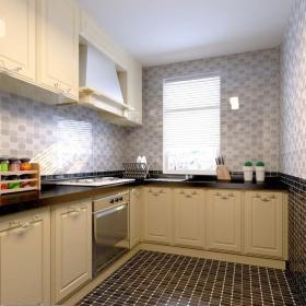 廚房地面大將軍瓷磚效果圖