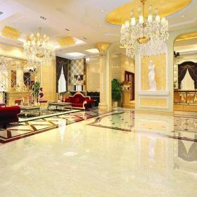 客廳地面裝修瓷磚效果圖