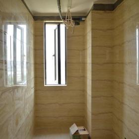欧式卫生间次卫墙地面瓷砖铺贴完成效果图欣赏