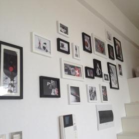 現代白色照片墻相片墻實拍圖效果圖大全