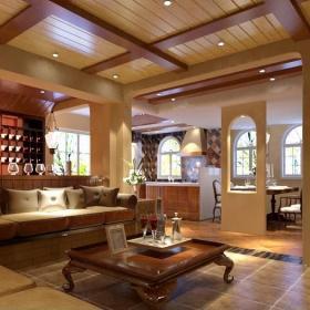 客厅地面仿古砖图片装修效果图
