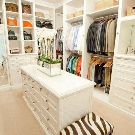 白色簡歐衣帽間三居室簡歐風格獨立式衣帽間裝修效果圖