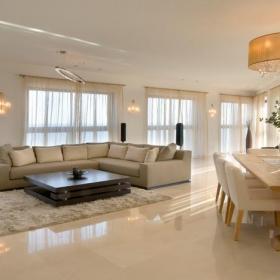 別墅客廳地面瓷磚效果圖