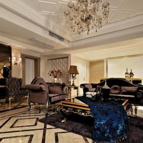 新古典風格客廳設計室內地面鋪裝效果圖