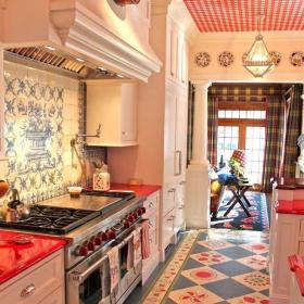 廚房地面瓷磚效果圖
