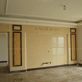客厅地面贴砖?#32422;?#30005;视墙造型装修效果图