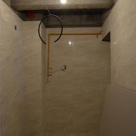 厨房墙地面瓷砖铺贴完成效果图
