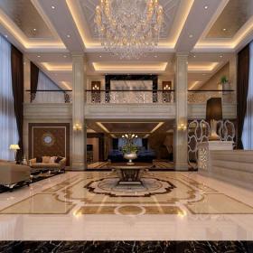 石膏板吊顶欧式地面拼花格栅吊顶美观时尚的大理石拼花设计效果图大全