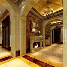 臺燈裝飾畫美式風格過道地面拼花裝修效果圖美式風格吊燈圖片