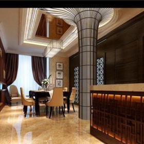 現代歐式別墅餐廳照片墻裝修效果圖大全