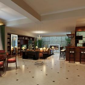 美式风格多功能厅地面拼花装修效果图美式风格台灯图片