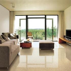 簡約客廳地面瓷磚效果圖