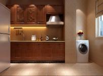 整體櫥柜門儲物柜地柜美式櫥柜實木家具開放式廚房家具圖片效果圖