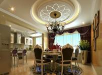 歐式四居室餐廳餐桌裝修圖片效果圖欣賞