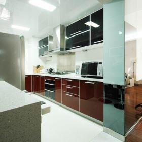 現代簡約二居室廚房吊頂裝修效果圖欣賞