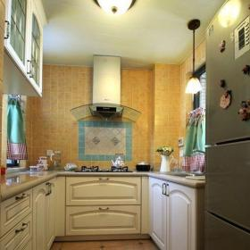 田園風格廚房裝修效果圖 廚房瓷磚效果圖