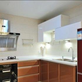 現代簡約二居室廚房走廊裝修效果圖