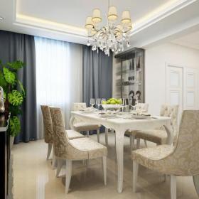 簡約歐式風格居家小餐廳裝修效果圖簡約歐式風格餐椅圖片