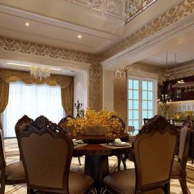 新古典風格別墅餐廳走廊裝修圖片效果圖
