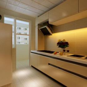 整體櫥柜臺面儲物柜家居擺件87㎡二居室現代風格廚房裝修效果圖現代風格整體櫥柜圖片