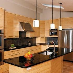 新古典厨房四居室新古典风格原木色开放式厨房装修效果图