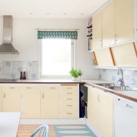 60㎡小户型现代风格厨房油烟机装修效果图现代风格橱柜图片