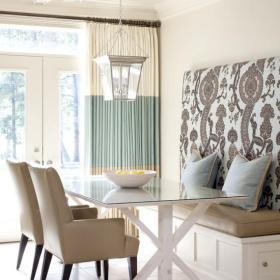 餐桌餐椅灯饰混搭清新与时尚并存的餐厅设计效果图大全