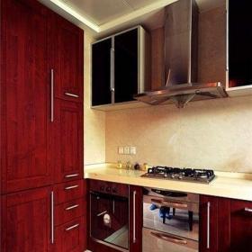 中式普通家庭廚房餐桌裝修設計圖效果圖