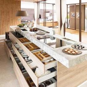 厨房收纳柜设计图效果图