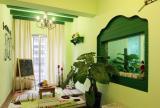 绿色家居榻榻米房间装修效果图