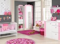 粉色调婴儿房装修效果图