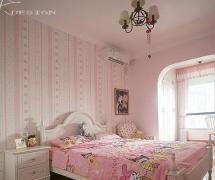 粉色卧室吊顶图片效果图