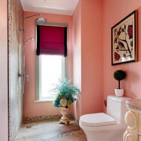 粉色整體衛浴間裝修效果圖