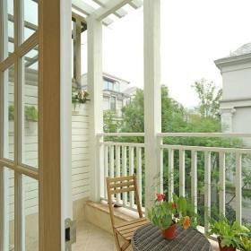 绿色151-200平米美式风格美轮美奂四居室阳台装修效果图