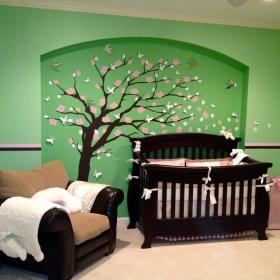 绿色家居壁画效果图