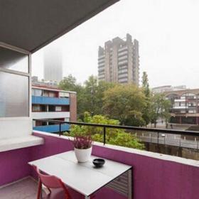 粉色151-200平米地中海风格欢快活泼五居室阳台装修效果图