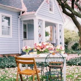 入戶花園北歐粉色電影般浪漫的花園空間裝修情調效果圖大全