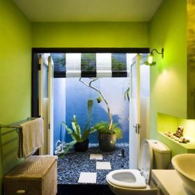 """椅凳吊頂一居小戶型簡約綠色的衛生間""""暗藏玄機效果圖大全"""