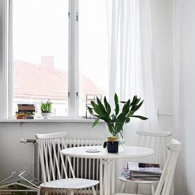超小戶型現代簡約風格小戶型小清新綠色餐廳裝修效果圖