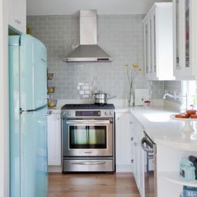 现代简约风格民族风粉色厨房设计图