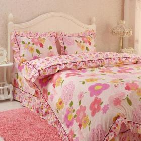 韓式床床上用品粉色風潮席卷臥室裝修效果圖欣賞