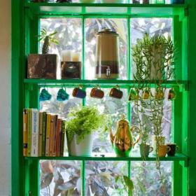 家飾小清新的綠色櫥窗展示空間效果圖大全
