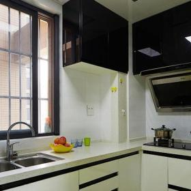 绿色简约风格两室一厅时尚黄色15-20万厨房设计图效果图