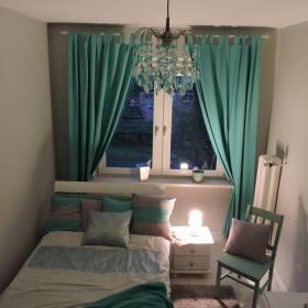 綠色窗簾搭配效果圖