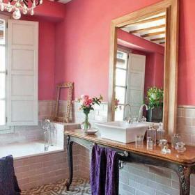 小資情調粉色衛浴間